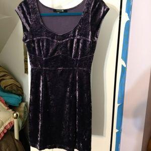 Purple crushed velvet dress Forever 21